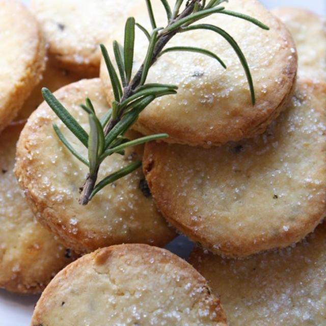 ローズマリーとレモンのクッキー