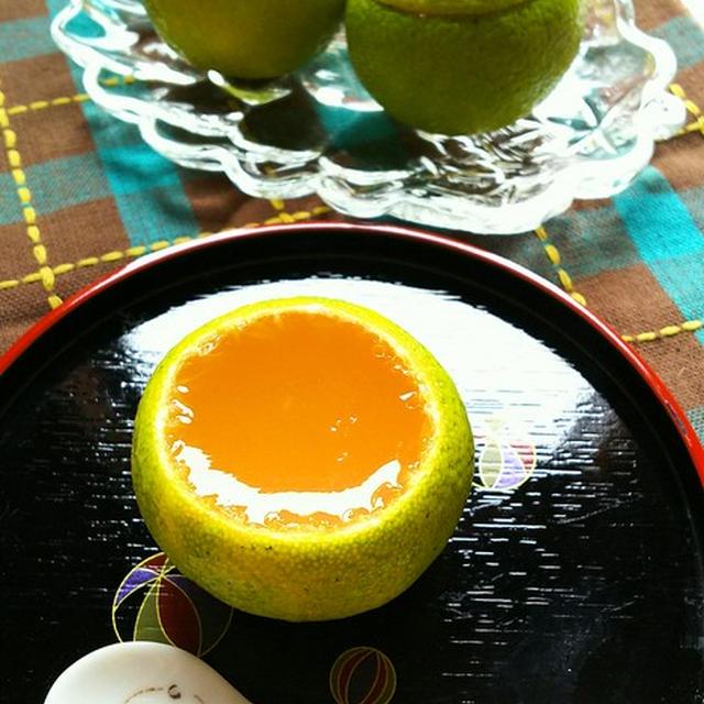 かぼすはちみつゼリー☆
