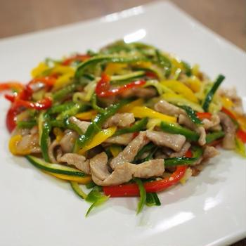 カラフル野菜の中華おかず