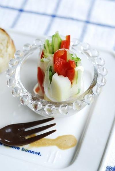 スマートチーズの生春巻きサラダ 加計呂麻島小旅行パートⅡ