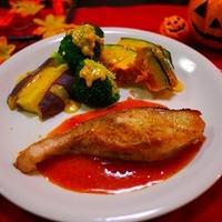 メルルーサのポワレ温野菜添え&掲載されます「きのこと里芋の炊き込みごはん 」