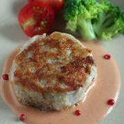 里芋のハンバーグ*オーロラソース