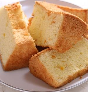 絹の口溶け♪ 米粉とオレンジのシフォンケーキ★ リクエストスイーツ(4)
