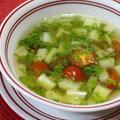 365日汁物レシピNo.152「セロリとミニトマトのスープ」