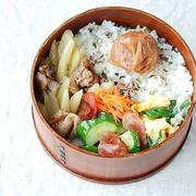 ◆豚とポテトのオイバタ炒め弁当