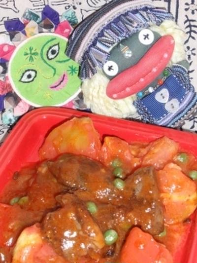 牛肉とトマトの甜麺醤炒め&ほうれん草のピーナッツサラダ(お家カフェ)