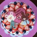 バースデーケーキ♡クマの学校チョコプレート♡キャラデコ