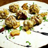 真鱈の白子のアーリオオーリオ・バルサミコソース