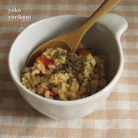 【レシピ】バジルとトマトのピラフ