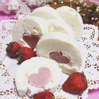 バニラ香るハート入り天使のロールケーキ