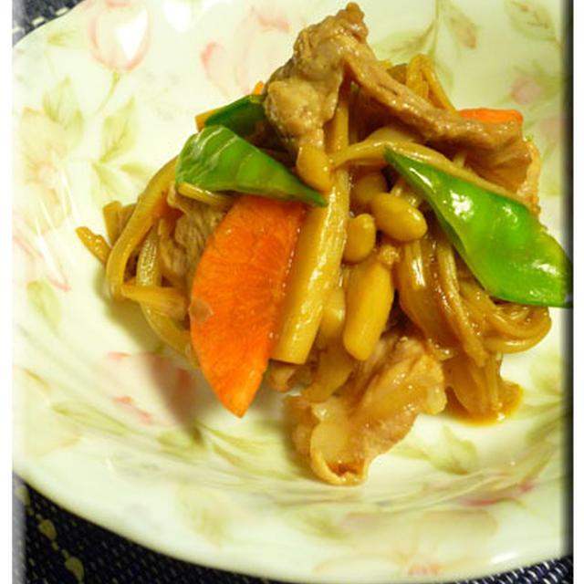 きのこと豚肉の生姜炒め
