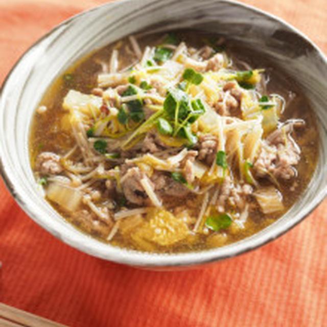 Nadia旬のレシピ掲載☆豚肉と白菜のワサビのかおり蕎麦