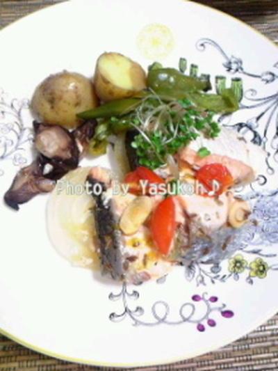 ド忘れ!大失敗;ギリギリセーフ☆鮭とたぷり野菜のかんたんオーブン焼き☆