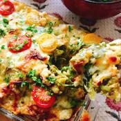 高野豆腐で!なまり節とキャベツのカレーピザ。
