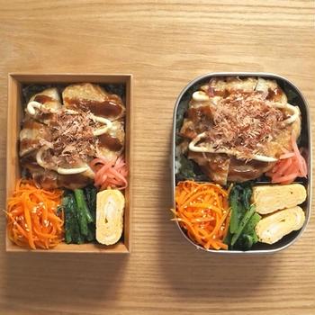 お好み焼き風キャベツ天弁当、納豆ししゃも定食