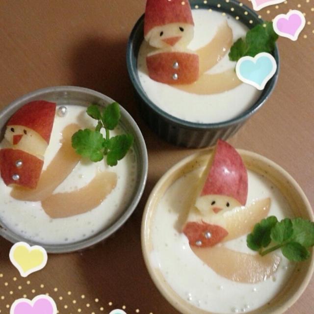 りんごサンタの柚子レアチーズケーキのれしぴ