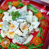 ガリガリブラックペッパーのアボカドと卵のサラダ