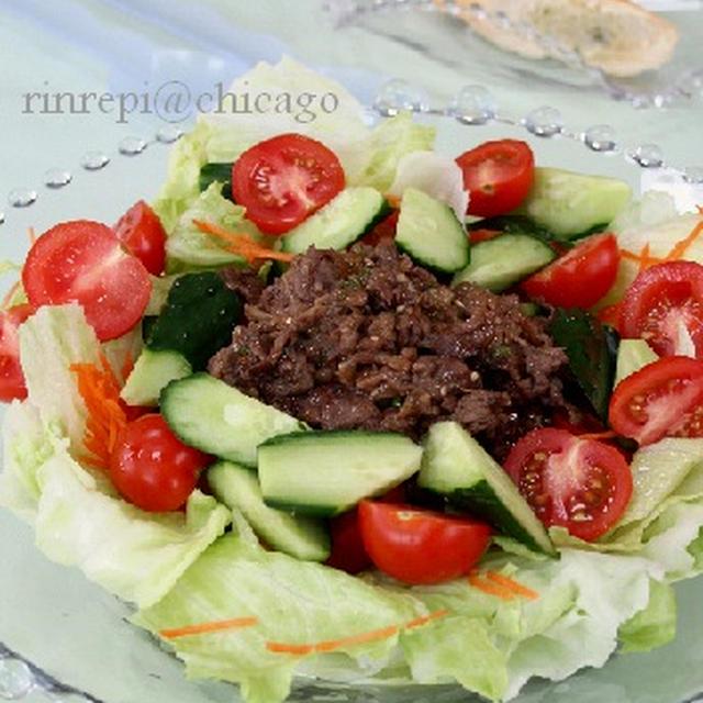 焼肉のタレレシピつき ビーフ焼肉サラダ