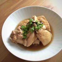 【ヤマキだし部】鶏と厚揚げの煮物