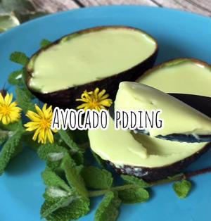 【料理動画】SNSで話題の「アボカドプリン」を作ったら、簡単なのに美味しい♡