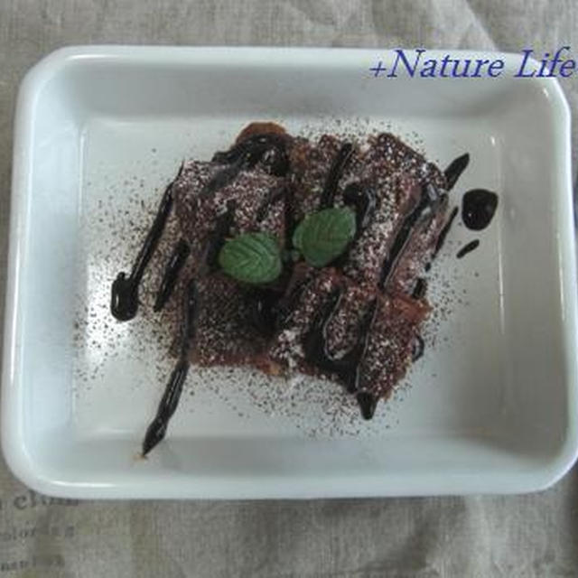 cuocaの「しっとりチョコ」ミックスで+ティラミス風フレンチトースト