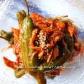 ~韓国おかず~ ししとうと鶏肉のチョ・コチュジャン和え&甘酢炒め