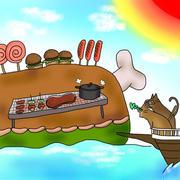 お肉の島を発見♪