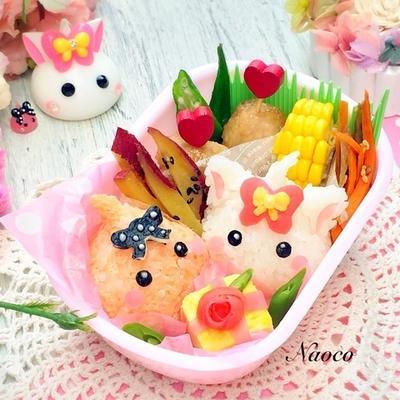 ほっぺちゃんからプレゼント【キャラ弁】/今日は長女ちゃんの8歳お誕生日♡