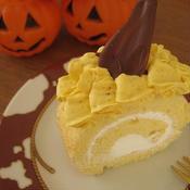 南瓜とショウガのクリームケーキ