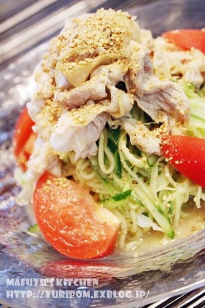 夏こそ食べたい!~野菜たっぷり豚しゃぶゴマだれヤサ麺