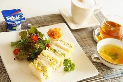 きゅうりと玉ねぎの卵サンド【レシピ】