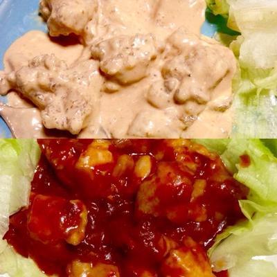 茹でて作る、低カロリー鶏チリと鶏マヨ