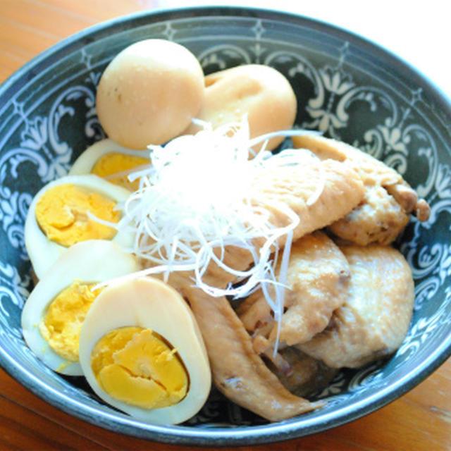 手羽先と 茹で卵の ガーリックポン酢煮 ☆