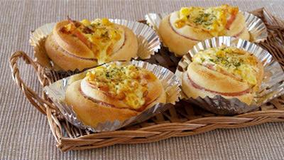 ハムコーンパンの作り方 (動画レシピ)