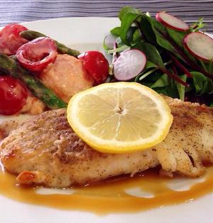 基本のレモンカードレシピとアレンジレシピ① 鱈のムニエル&海老マヨ風なサラダ