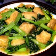 白身魚と小松菜炒め