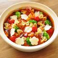 野菜たっぷり★ベーコンと魚介の花畑風トマト鍋