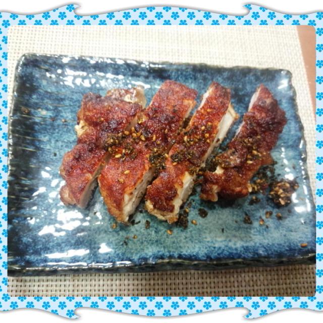 鶏むね肉の唐揚げ風生姜醤油焼き