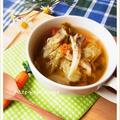 舞茸とキャベツの香味野菜スープ