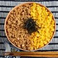 【基本のレシピ】お弁当にも♫鶏そぼろと卵の二色丼