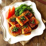 ♡超簡単節約♡豆腐deヘルシーごまピカタ♡【焼肉のたれ*ボリューム*卵】
