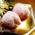 ☆桃の大福~桃のフルーツブランデー入り~☆
