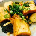 小松菜と厚揚げのキムチ炒め