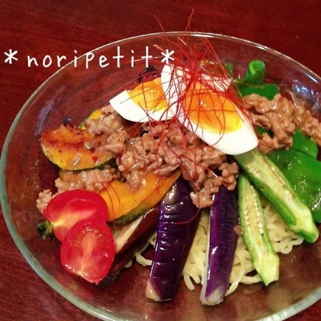夏野菜たっぷり♡簡単・肉味噌deジャージャー麺♡とブログあるある♪