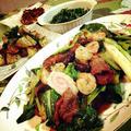 ・牛肉と小松菜炒め                           ・momozail啓子ちゃんのハーブソルトの新ジャガのソテー                           ・茎わかめのおつまみ