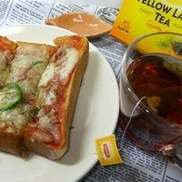 ツナピザトーストでブランチ☆ひらめき朝食