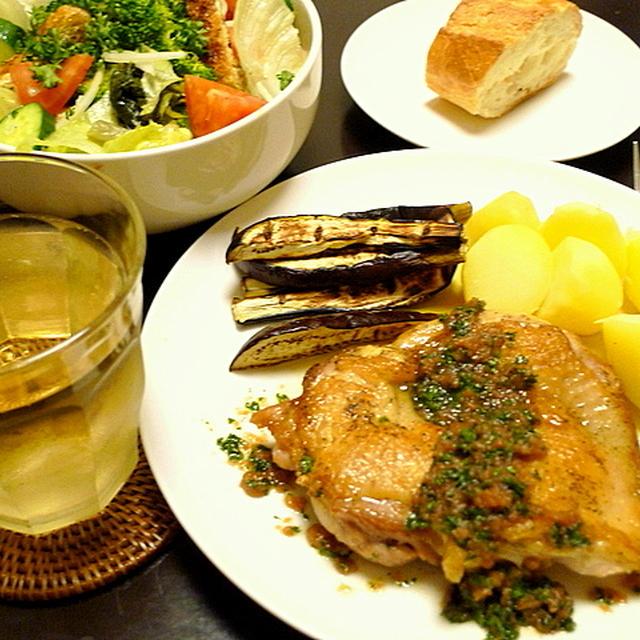 鶏ソテー梅バターソース