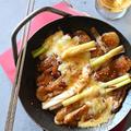 お餅リメイク:すき焼き味の餅ねぎチーズ焼き【ヤマサ醤油×青山金魚1月のレシピ】