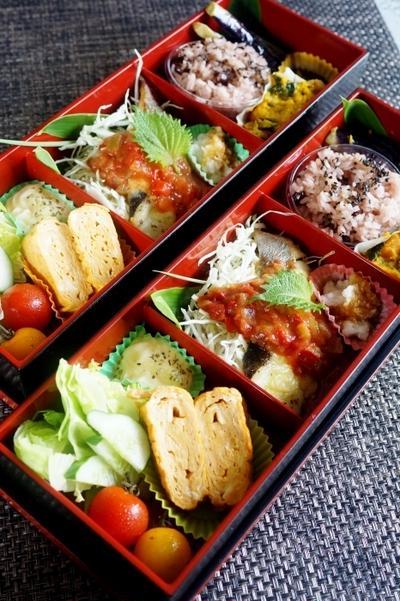 ■お弁当【真鱈のチーズ焼きサルサディップかけ他】陶芸教室の日