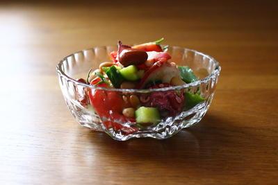 たこと豆の夏サラダ